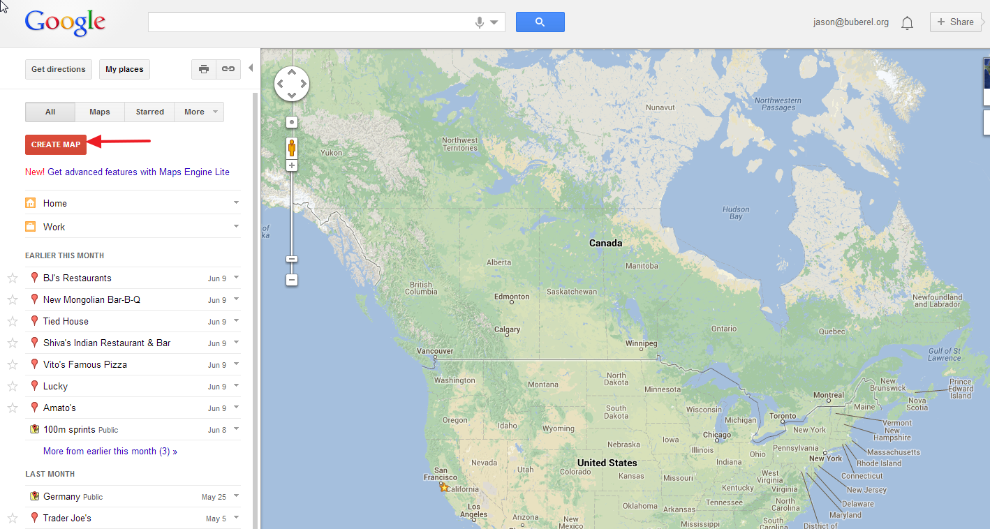 Jasons Log Using Google MapMaker To Measure Workout Distances In - Track my distance google maps