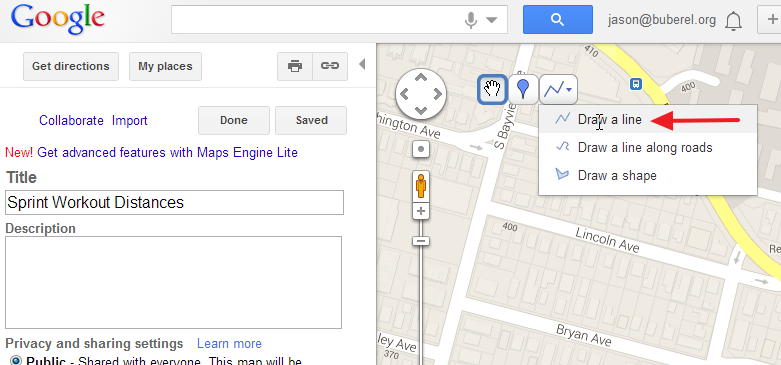 Jason's Log: Using Google MapMaker to measure workout